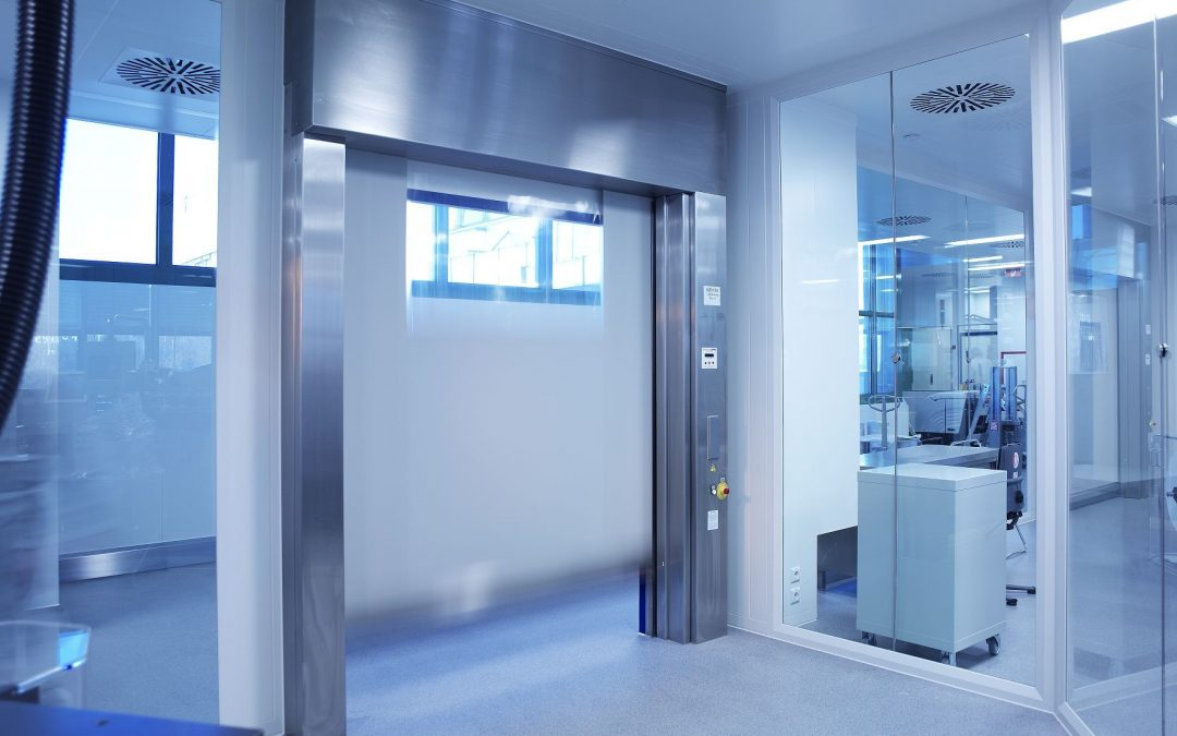 High speed doors for cleanrooms