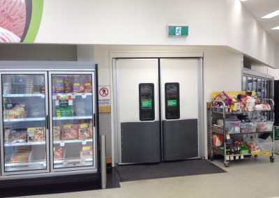 Traffic Doors in Supermarket