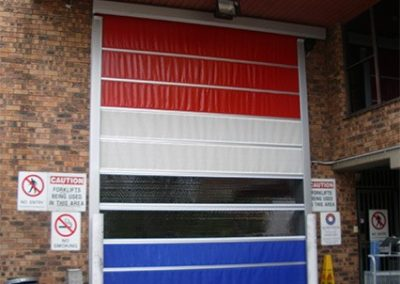Multi Colour Panels to Roll Doors