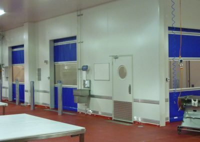 Meat processing facility required DMF doors