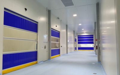 High speed doors in food processing