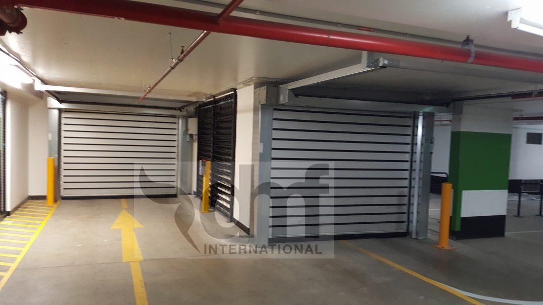 Low head room carpark door
