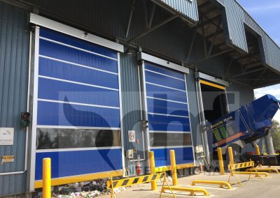High speed doors for waste plant