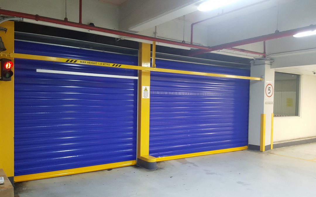 Internal fast action carpark doors
