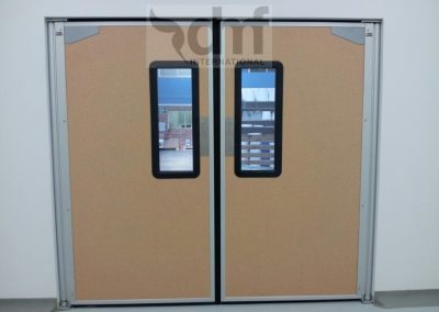 Impact Traffic doors with vinyl surface