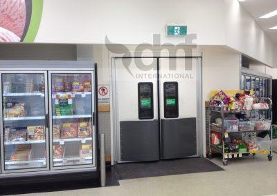 Traffic door supermarket selling floor