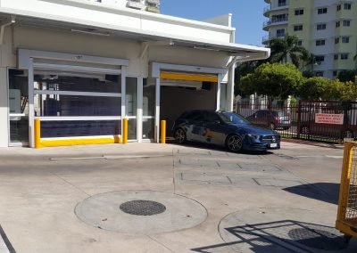 Rapid roll doors for carwashes