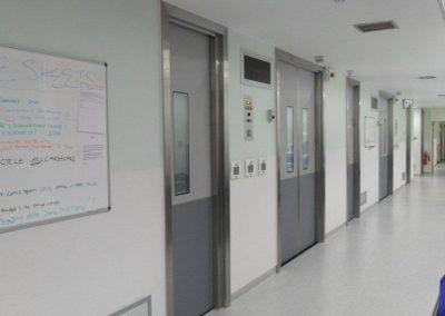 DMF Dortek GRP hospital doors hallway