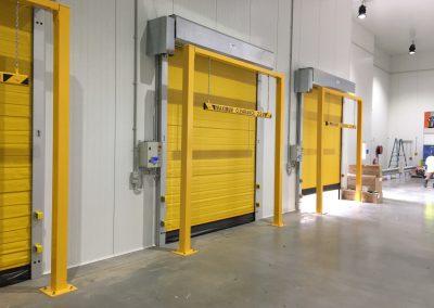 Coldsaver high speed door dock area