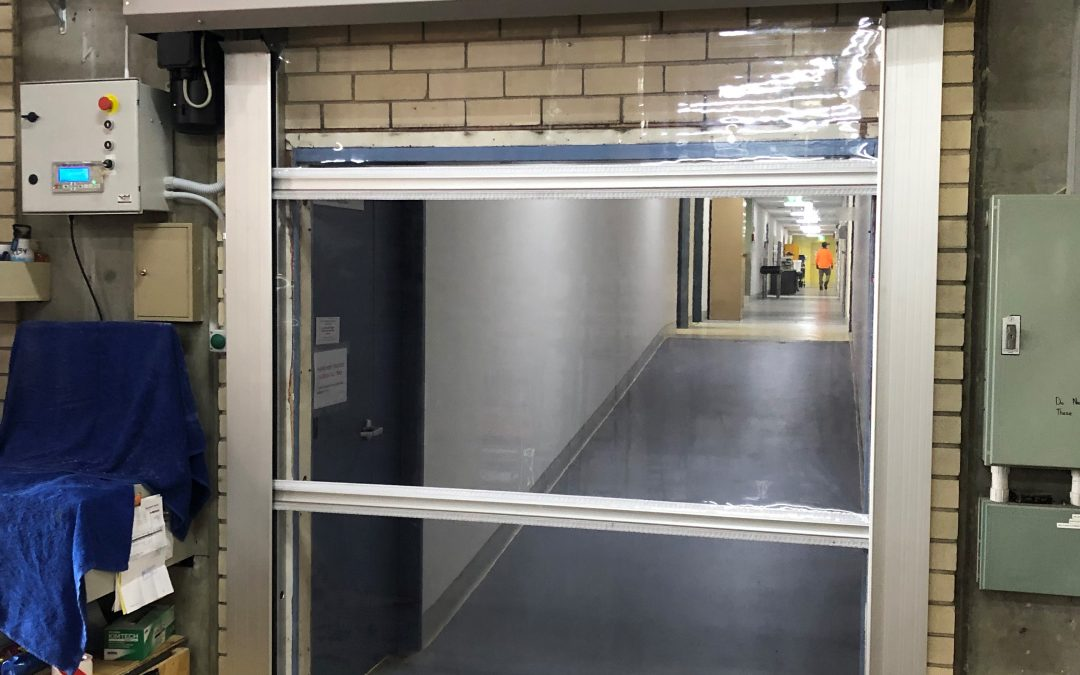 Swing doors to rapid roll door