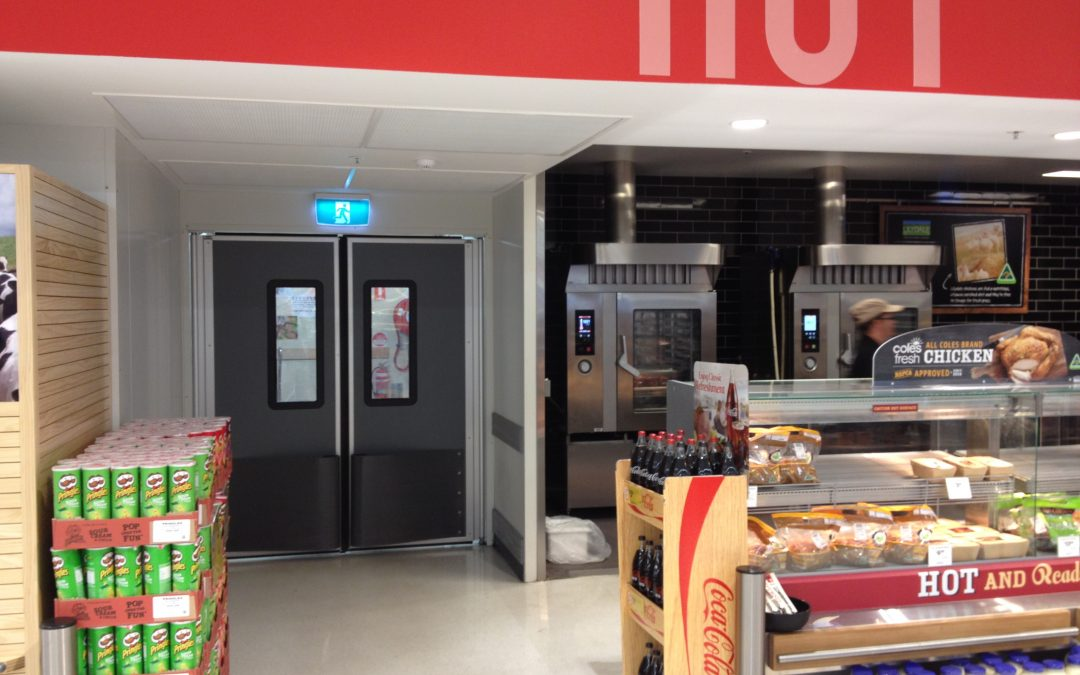Impact Traffic doors for supermarkets