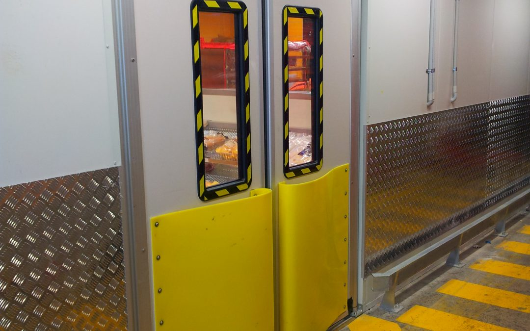 High impact resistant Traffic Doors for Woolworths